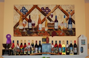 James River Cellars winery in Richmond, Virginia wine display