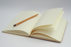 blank notebook indicating writing